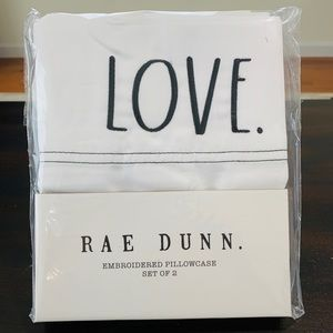 Rae Dunn LOVE. Pillowcase set